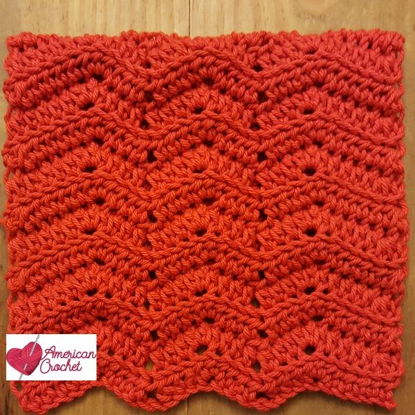 Ripple Washcloth | Free Crochet Pattern | American Crochet @americancrochet.com #freecrochetpattern
