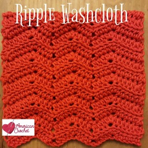 Ripple Washcloth ~ Free Crochet Pattern