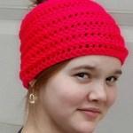 Simply Reversible Messy Bun Hat free crochet pattern