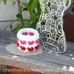 Marshmallow Sweet Hearts Basket free crochet pattern