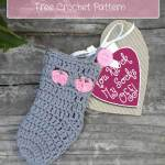 Sweet Kisses Mini Sock free crochet pattern