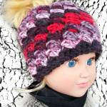My Dolly Everyday Kisses Messy Bun Hat free crochet patterns