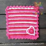 Heart Stripes Lovey free crochet pattern