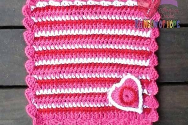 Heart Stripes Lovey free crochet pattern