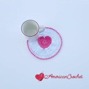 Creamy Truffle Heart Coaster Free Crochet Pattern