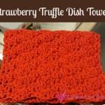 Strawberry Truffle Dish Towel free crochet pattern