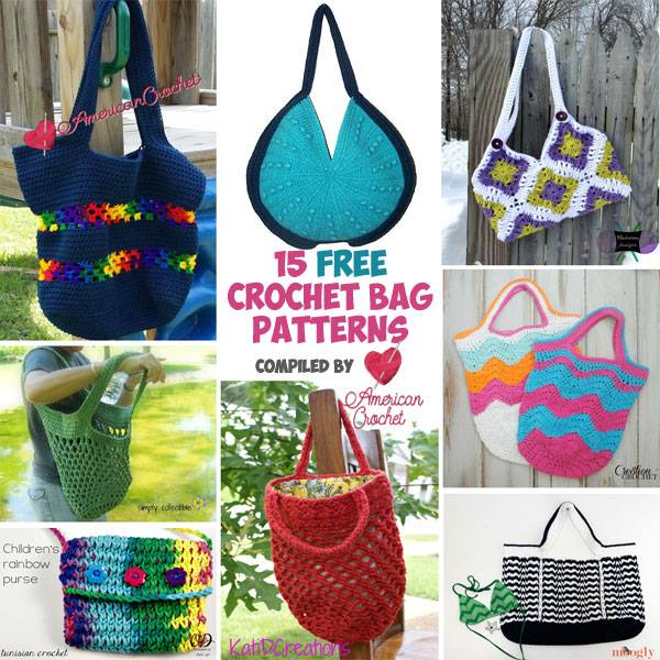 15 FREE Beautiful Bags crochet patterns