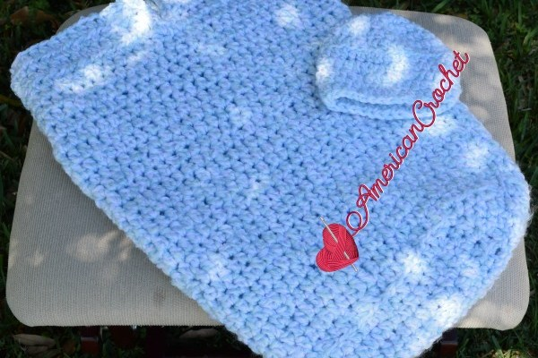 Baby Summer Cocoon Set free crochet pattern