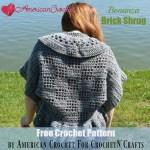 Bonanza Brick Shrug free crochet pattern