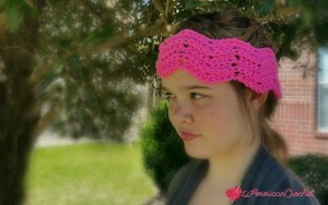 Peaks and Valleys Headband free crochet pattern