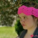 Peaks and Valleys Headband free crochet pattern