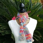 Sweet Rainbow Scarf free crochet scarf