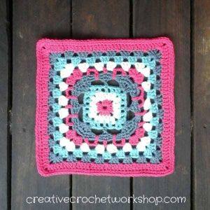 Rhapsody Flower Granny Square | Free Crochet Pattern | American Crochet @americancrochet.com @creativecrochetworkshop.com #freecrochetpattern