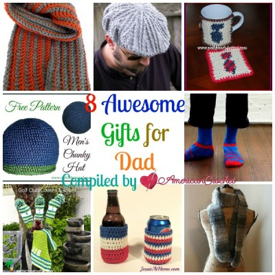 8 Awesome Gifts for Dad ~ Free Crochet Pattern Roundup