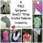 8 Free Scarf n Wrap free crochet pattern roundup