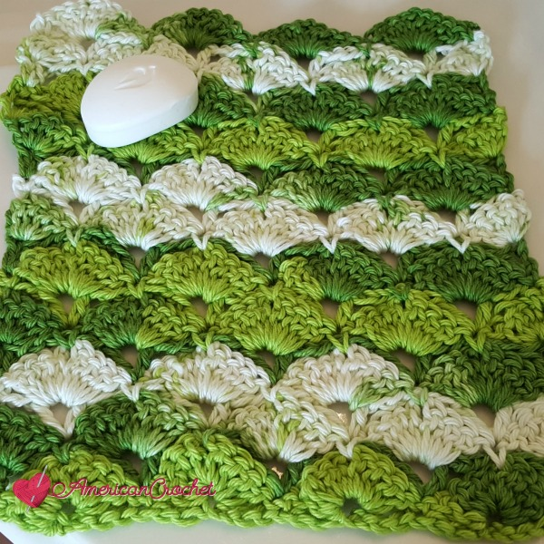Apple Juicy Washcloth | Free Crochet Pattern | American Crochet @americancrochet.com #freecrochetpattern