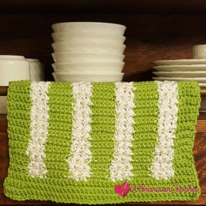 Moss Columns Dishcloth