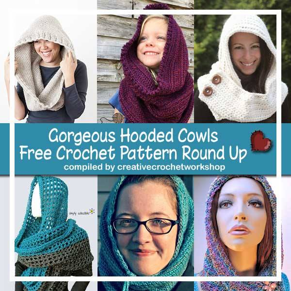 Gorgeous Hooded Cowls Free Crochet Pattern Round Up | Creative Crochet Workshop @creativecrochetworkshop @americancrochet