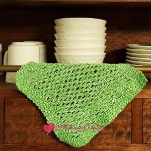 Double Moss Dishcloth ~ Free Crochet Pattern