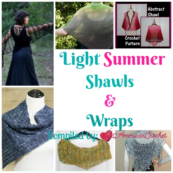 Light Summer Shawls & Wraps ~ Free Crochet Pattern Roundup