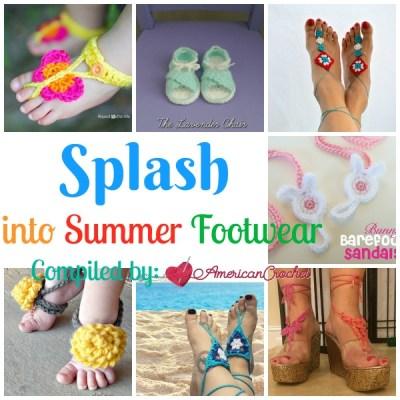 Splash into Summer Footwear ~ Free Crochet Pattern Roundup