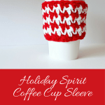 Holiday Spirit Coffee Cup Sleeve free crochet pattern