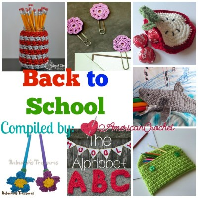 Back to School ~ Free Crochet Pattern Roundup