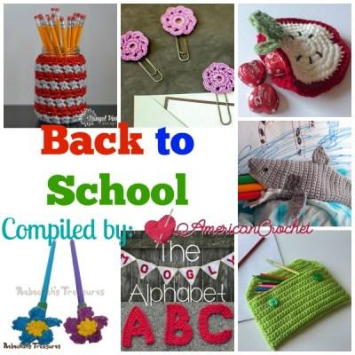 Back to School ~ Free Crochet Pattern Roundup