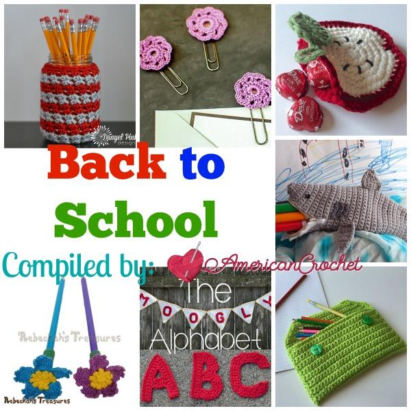 Back to School | Free Crochet Pattern Roundup | American Crochet @americancrochet.com #BacktoSchool