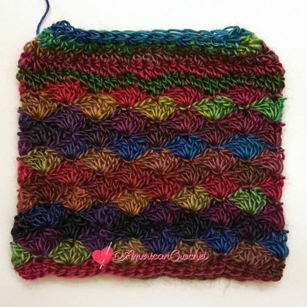 Carousel Dream Messy Bun Hat American Crochet Free Crochet Pattern