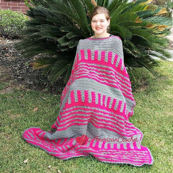 Serendipity Stash Buster Blanket | Free Crochet Pattern | American Crochet @americancrrochet.com #freecrochetpattern