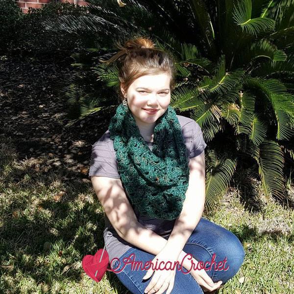 Michella's Cowl | Free Crochet Pattern | American Crochet @americancrochet.com #freecrochetpattern