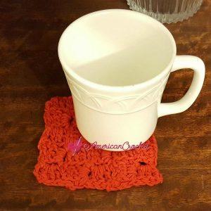 Cornered Coaster | Free Crochet Pattern | American Crochet @americancrochet.com #freecrochetpattern