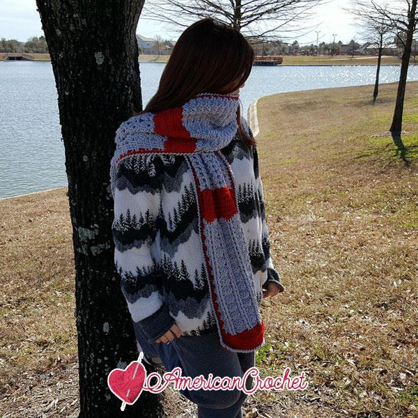 Romancing The Scarf Part Five | Free Crochet Pattern | American Crochet @americancrochet.com #freecrochetpattern #freecrochetalong