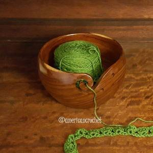 Ravel Wooden Yarn Bowl | Review and Giveaway | American Crochet @americancrochet.com