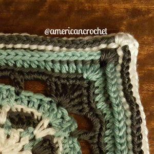 Eunice Circle in A Square   American Crochet @americancrochet.com