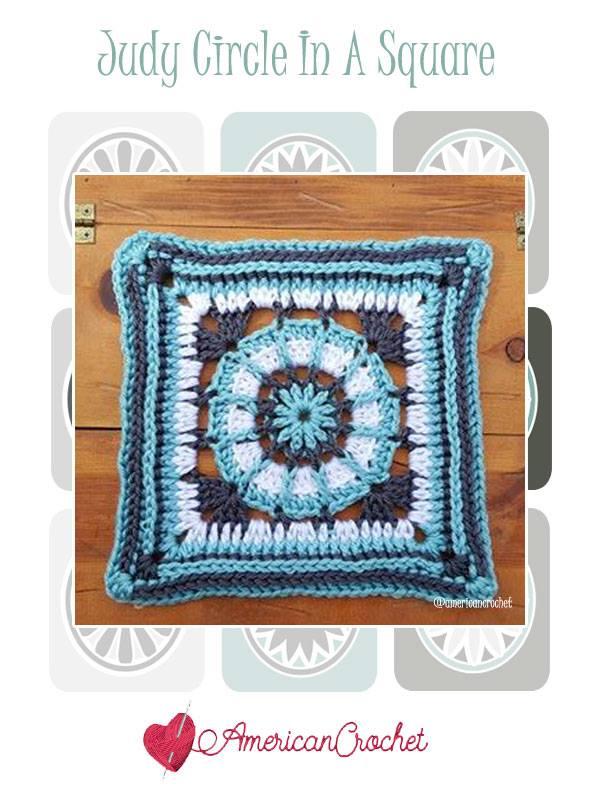 Judy Circle in A Square | Free Crochet Pattern | American Crochet @americancrochet.com #freecrochetpattern #freecrochetalong