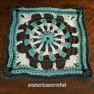 Louise Circle in A Square   American Crochet @americancrochet.com