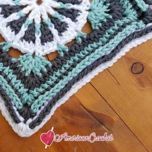 Martha Circle in A Square | Free Crochet Pattern | American Crochet @americancrochet.com #freecrochetpattern #freecrochetalong