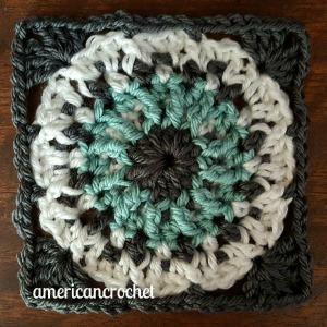 MAXINE Circle in A Square | American Crochet @americancrochet.com