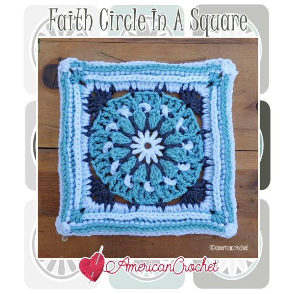 Faith Circle In A Square American Crochet Free Crochet Pattern