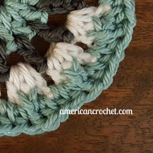 ROSE Circle in A Square | American Crochet @americancrochet.com