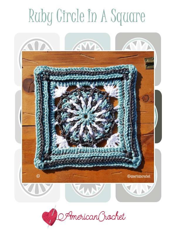 Ruby Circle in A Square | Free Crochet Pattern | American Crochet @americancrochet.com #freecrochetpattern #freecrochetalong