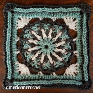 RUBY Circle in A Square | American Crochet @americancrochet.com