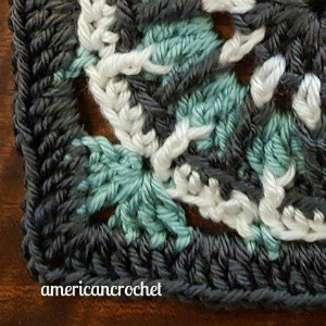SARAH Circle in A Square | American Crochet @americancrochet.com
