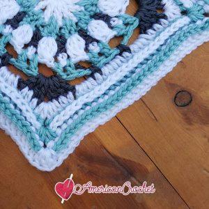 Robin Circle in A Square | Free Crochet Pattern | American Crochet @americancrochet.com #freecrochetpattern #freecrochetalong
