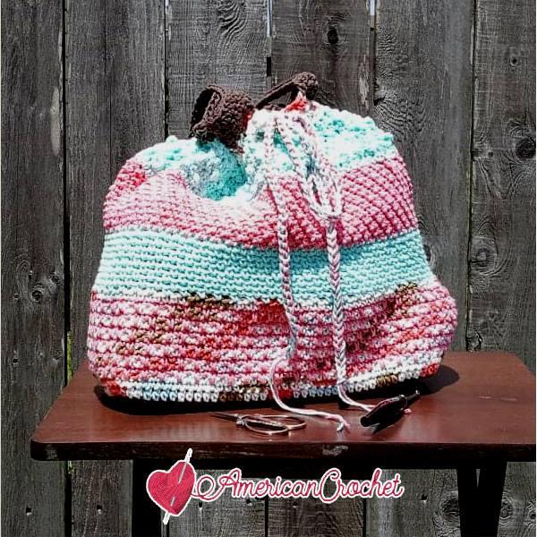 The Neapolitan Tote Part One | Crochet Pattern | American Crochet @americancrochet.com #crochetpattern #crochetalong