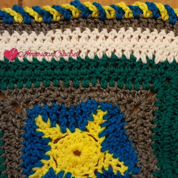 Ocean Medley Blanket Part Five   American Crochet @americancrochet.com #crochetalong