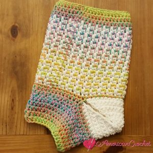 Magical Retro Christmas Stocking Part Two | Crochet Pattern | American Crochet @americancrochet.com #crochetpattern #crochetalong