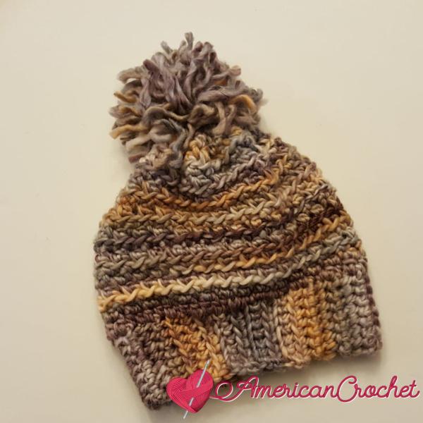 Fall Harvest Slouchy | Crochet Pattern | American Crochet @americancrochet.com #crochetpattern